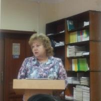 Завідувач відділу наукового формування та опрацювання документних ресурсів І. Г. Лобановська