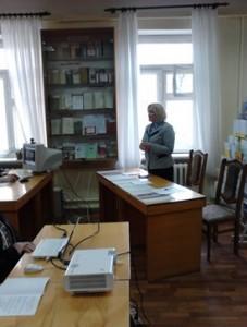 Відкрила науково-методологічний семінар Л. Д. Березівська, директор бібліотеки, доктор педагогічних наук, професор